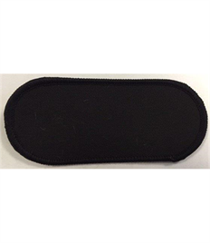 Pack of 25 Blank Black Name Badges with Heat Seal (Choice of Edging Colour)