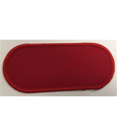 Pack of 25 Blank Red Name Badges with Heat Seal (Choice of Edging Colour)