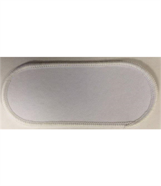 Pack of 25 Blank White Name Badges with Heat Seal (Choice of Edging Colour)