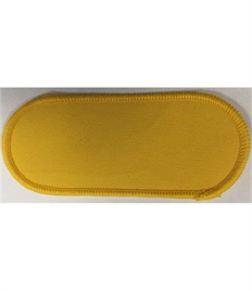 Pack of 25 Blank Yellow Name Badges with Heat Seal (Choice of Edging Colour)
