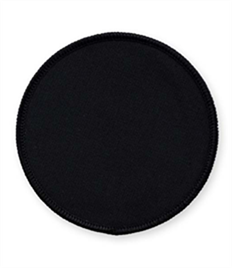 Pack of 25 Black Circle Badges (choice of edging colour)