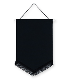 Pack of 10 Black Chevron Pennants (choice of fringe colour)