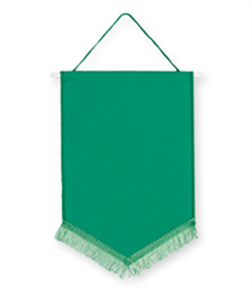 Pack of 10 Emerald Green Chevron Pennants (choice of fringe colour)