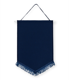 Pack of 10 Navy Chevron Pennants (choice of fringe colour)
