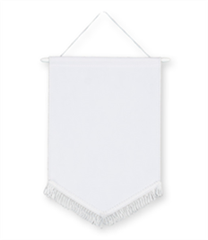 Pack of 10 White Chevron Pennants (choice of fringe colour)