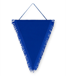 Pack of 10 Royal Triangle Pennants (choice of fringe colour)
