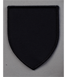 Pack of 25 Black Shield Badge (choice of edging colour)