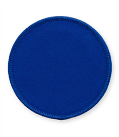 Pack of 25 Royal Circle Badges with Velcro (choice of edging colour)