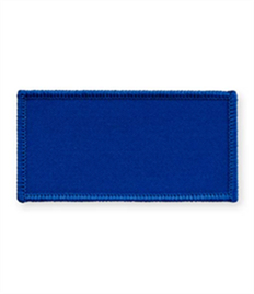 Pack of 25 Royal Rectangle Badges with Velcro (choice of edging colour)