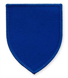 Pack of 25 Royal Shield Badges with Velcro (choice of edging colour)