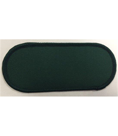 Pack of 25 Blank Bottle Green Name Badges with Velcro (Choice of Edging Colour)
