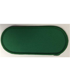 Pack of 25 Blank Emerald Green Name Badges with Velcro (Choice of Edging Colour)