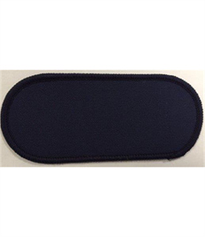 Pack of 25 Blank Navy Name Badges with Velcro (Choice of Edging Colour)