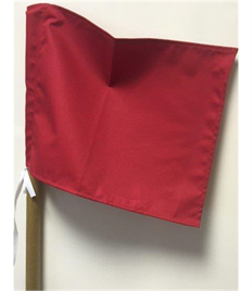 Blank Square Corner Flag with Pocket & Ties (Pack of Four)