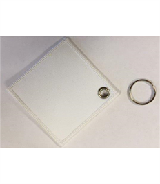 Blank Square Keyring with Eyelet & Ring (Pack of Ten)