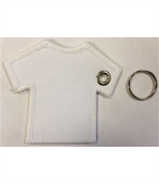 Blank T-Shirt Keyring with Eyelet & Ring (Pack of Ten)