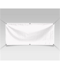 Individual Blank Banner with Eyelets & Rope Ties